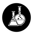 test tube flask glass laboratory equipment school vector image vector image