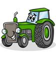 tractor character cartoon vector image vector image