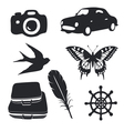 Travel pictograms set vector image vector image