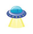 ufo spaceship icon vector image