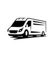 van delivery minivan for fast delivery logo vector image vector image