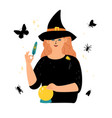 witch character magical occult elements vector image