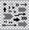 arrow pointer symbol set vector image