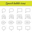 Outline icons set Speech bubbles vector image