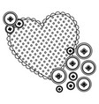 silhouette heart with bubbles icon vector image