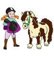 girl with pony vector image