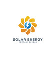 abstract sun solar enegy logo template vector image vector image