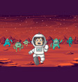 astronaut and monster vector image