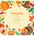 banner poster flyer with thanksgiving symbols vector image