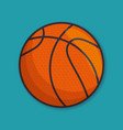 basketball sport ball isolated icon vector image vector image