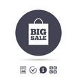 big sale bag sign icon special offer symbol