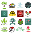 biggest collection of logos of flower vector image