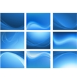 blue abstract waving background vector image
