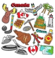 Canada Travel Scrapbook Stickers Patches Badges vector image vector image