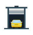 car in garage flat multi color vector image vector image