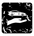 Car insurance concept icon grunge style vector image vector image