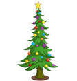 cartoon christmas tree vector image
