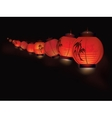 Chinese paper lantern garland vector image vector image