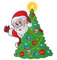 christmas santa claus 4 vector image vector image