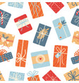 christmas seamless pattern on white background vector image vector image