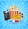 cinema banner movie watching vector image vector image