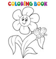 coloring book flower topic 4