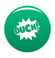 comic boom ouch icon green vector image