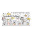 confectionery concept flat line art vector image vector image
