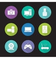 Consumer electronics flat design icons set vector image vector image