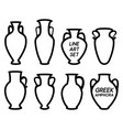 contour of greek amphoras vector image vector image