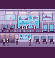 control center business people working vector image vector image
