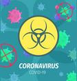 coronavirus pandemic bio hazard poster vector image