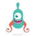 cute cartoon alien monster vector image