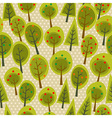 Cute seamless pattern forest vector image