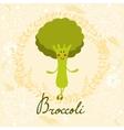 Cute sweet broccoli character vector image vector image