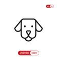 dog face icon vector image
