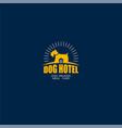 dog hotel logo vector image vector image