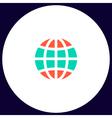 Earth computer symbol vector image vector image