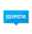 eco effective price tag vector image vector image
