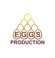 eggs production logo egg farm emblem vector image vector image