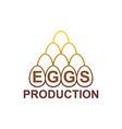 eggs production logo egg farm emblem vector image