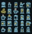 energetic drink icons set neon vector image vector image