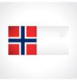 Envelope with Norwegian flag card vector image vector image