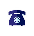 flat vintage rotary dial phone vector image