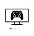 gaming monitor icon vector image vector image