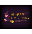 Get ready for halloween vector image