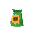 green pet food bag with cartoon cat on packaging vector image vector image