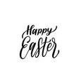 handwritten phrase happy easter in vector image