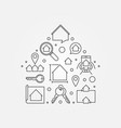 house shape - real estate vector image vector image