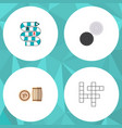 icon flat entertainment set of crossword table vector image vector image